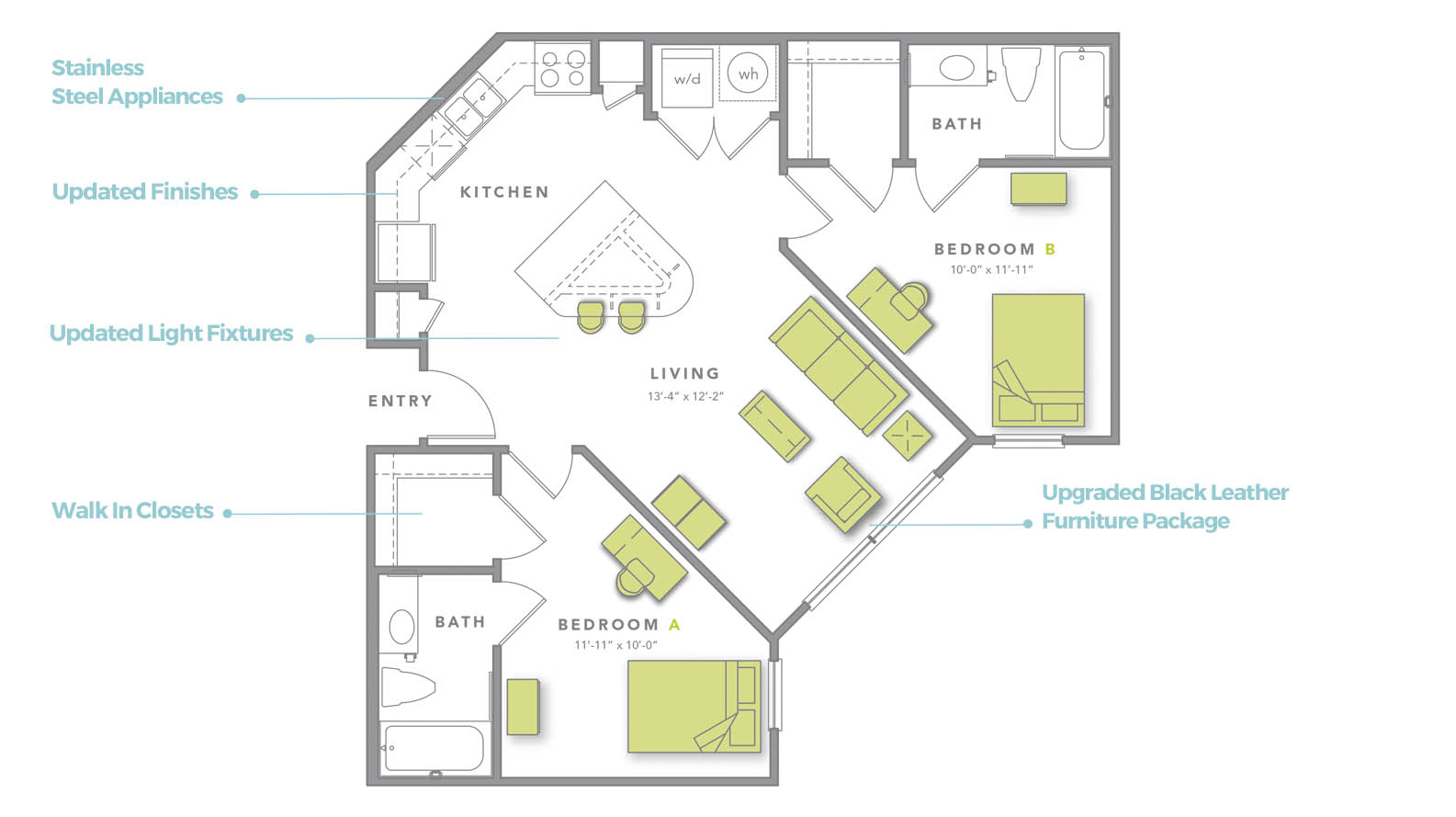 Detailed View of The B2 Premium Floor Plan
