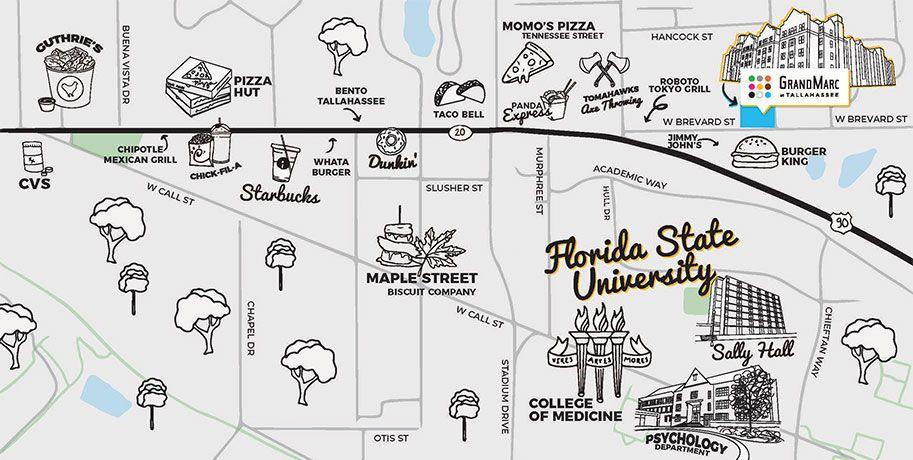Map of GrandMarc Tallahassee